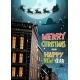 Santa Flying in Sleigh With Reindeer in Night Sky