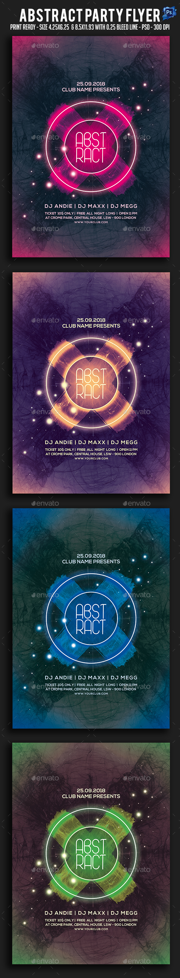 GraphicRiver Abstract Party Flyer 20818877