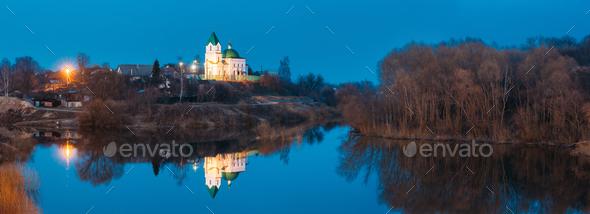 Gomel, Belarus. Panorama Of Church Of St Nicholas The Wonderwork - Stock Photo - Images