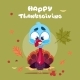 Happy Thanksgiving Day Autumn Traditional Harvest