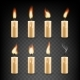 Vector Realistic Candle with Fire Animation Icon