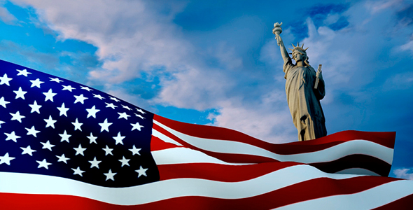 VideoHive Flag And Statue Of Liberty 20819334