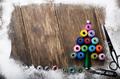 Sewing spools Christmas backround - PhotoDune Item for Sale