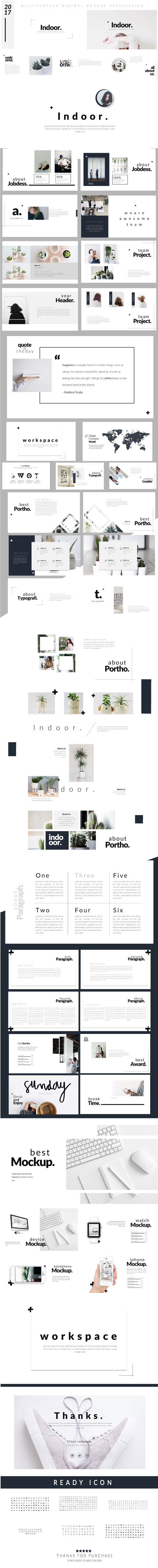 Indoor - Modern Google Slide Template - Google Slides Presentation Templates