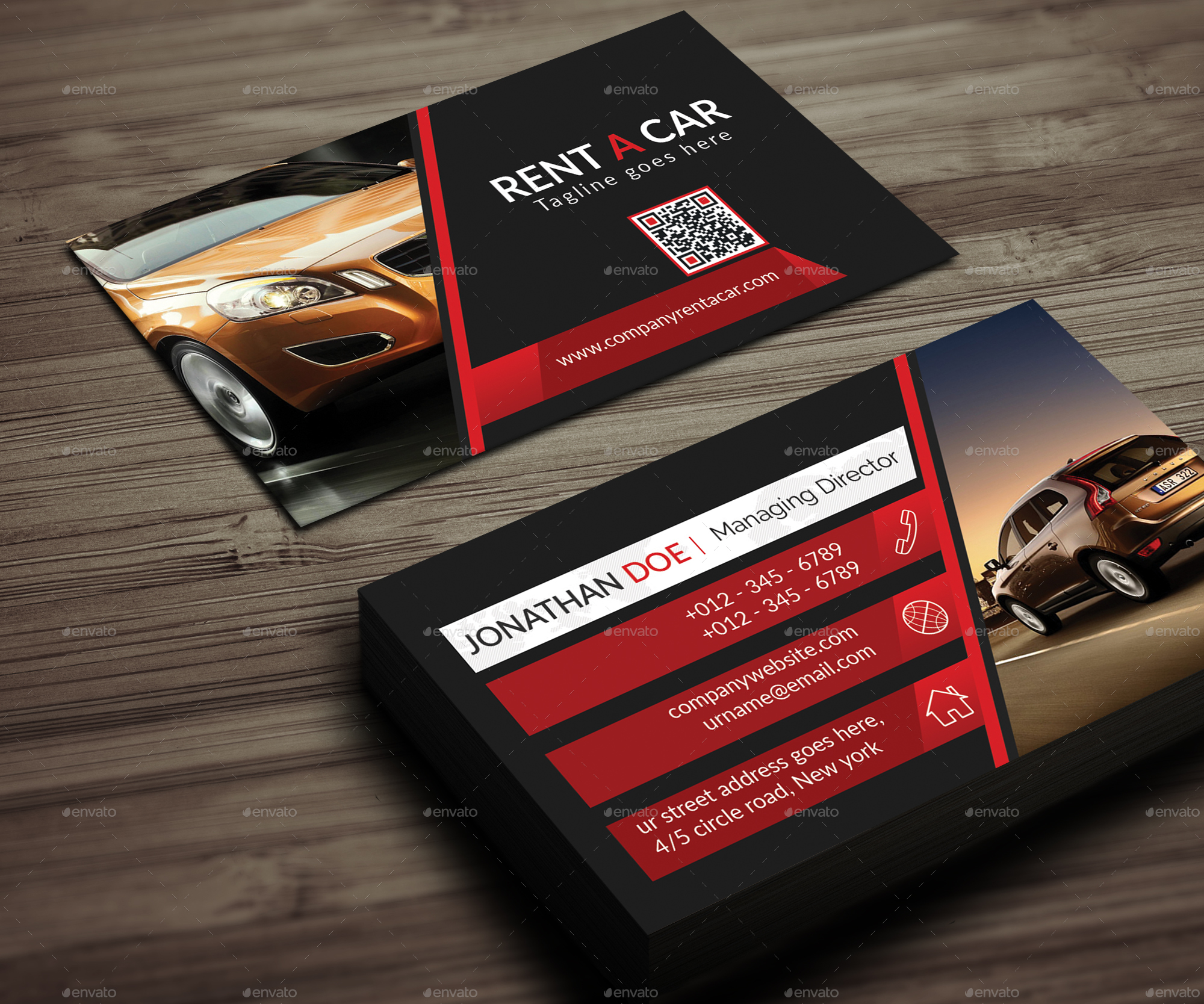 Rent a car business card by ancientego graphicriver rent a car business card corporate business cards 01previewg 02previewg 03previewg colourmoves