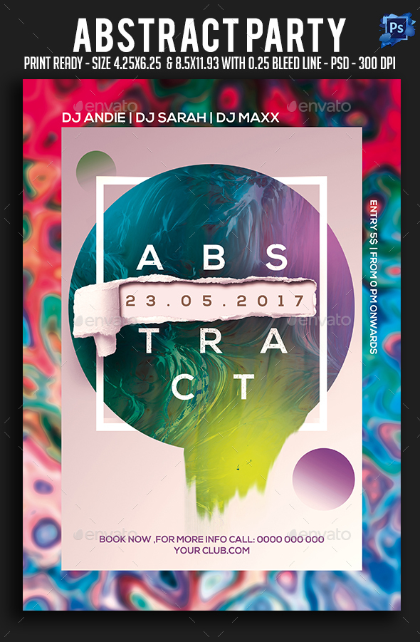 GraphicRiver Abstract Party Flyer 20819688