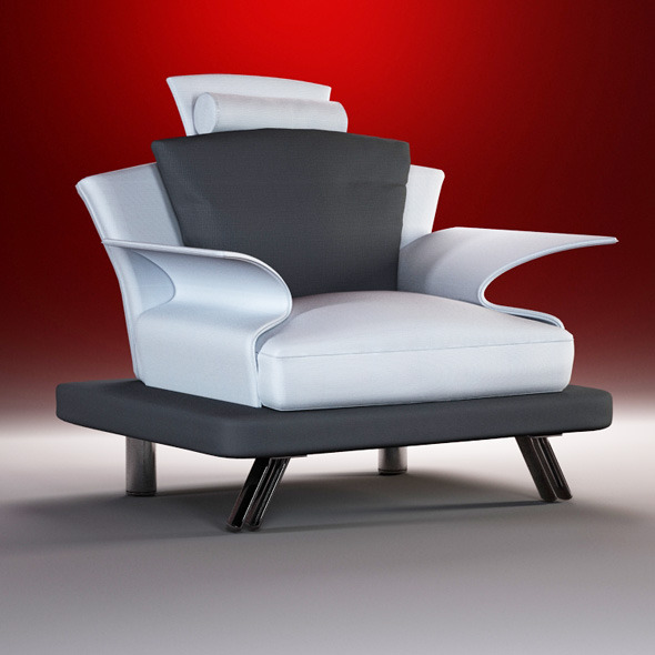 Quality 3dmodel of modern chair Super Roy. IL Loft - 3DOcean Item for Sale