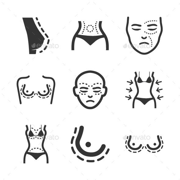 Plastic Surgery Icons - Web Icons
