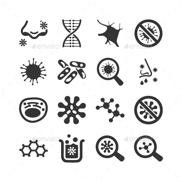 GraphicRiver Biology Icons 20819838