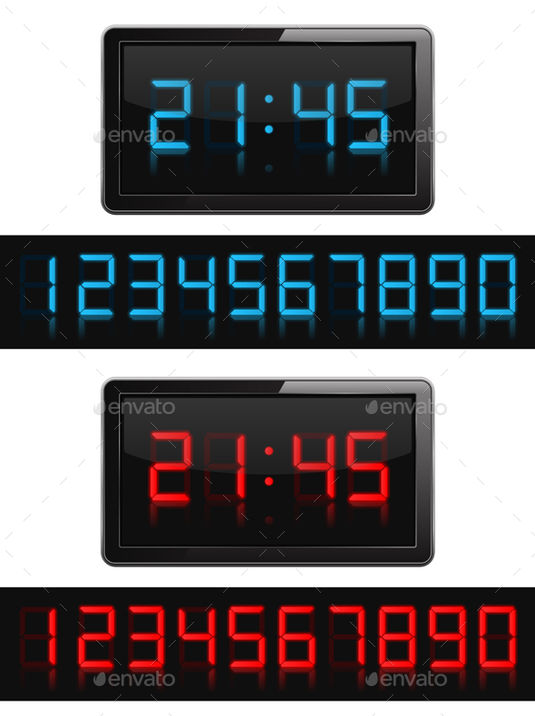 GraphicRiver Digital Clock and Numbers 20820361
