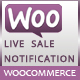 Woocommerce live sales notification