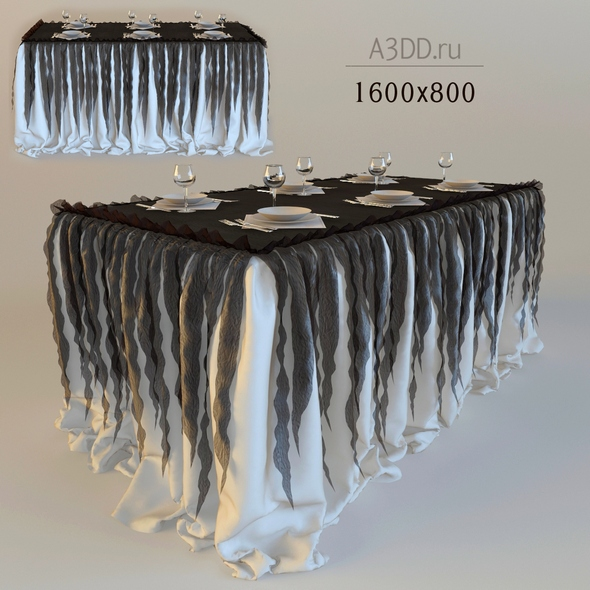 3DOcean drapery standing buffet table 20820433