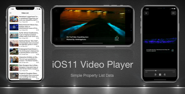 iOS11 Video Player - CodeCanyon Item for Sale