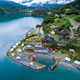 Beautiful Nature Norway Aerial view of the campsite to relax. - PhotoDune Item for Sale