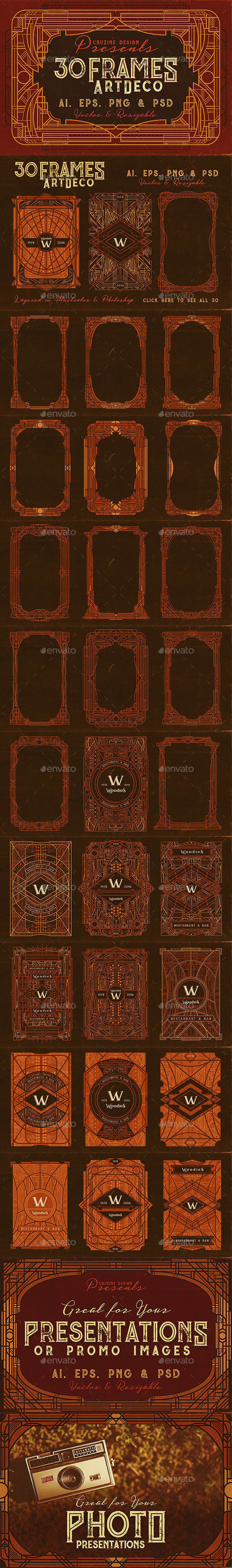 30 ArtDeco Frames - Decorative Graphics