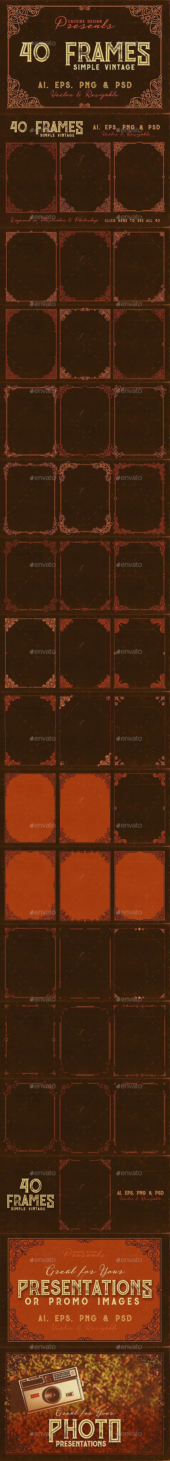 GraphicRiver 40 Vintage Frames 20820706