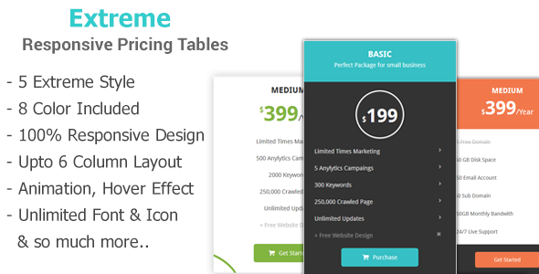 Download Extreme - Creative Bootstrap Pricing Tables