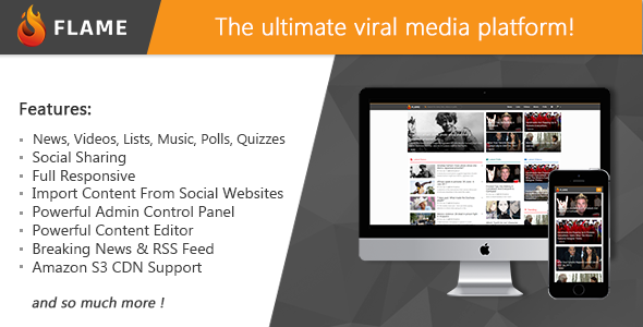 FLAME - The Ultimate PHP Social Media & News Platform - CodeCanyon Item for Sale