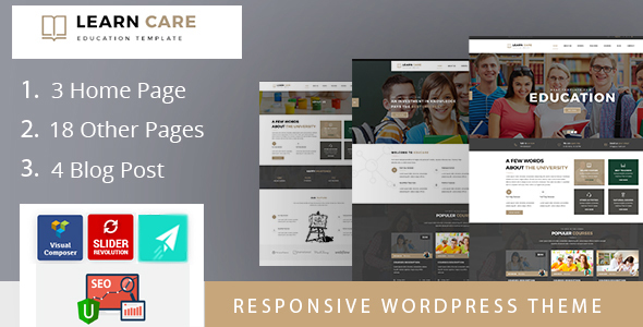 LearnCare Educational WordPress Theme - Education WordPress