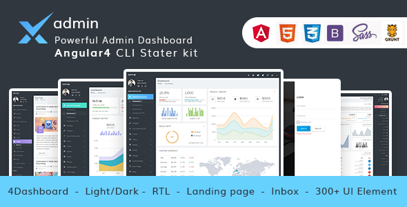 ThemeForest adminX The Ultimate & Powerful Material Design Dashboard 20694893