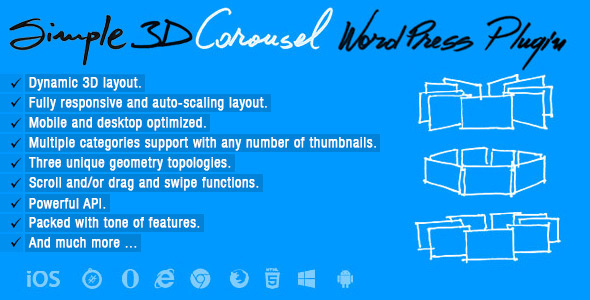 CodeCanyon Simple 3D Carousel Wordpress Plugin 20820947