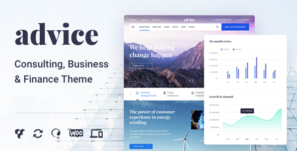 Advice - Consulting & Business WordPress Theme - Business Corporate