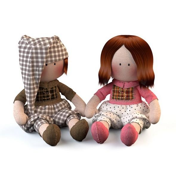 Textile doll Tilda toy - 3DOcean Item for Sale