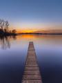 Purple Sunset over Serene Lake vertical - PhotoDune Item for Sale