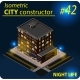 Modern Isometric Building in Night Light - GraphicRiver Item for Sale