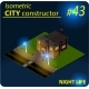 Modern Isometric Building in Night Light