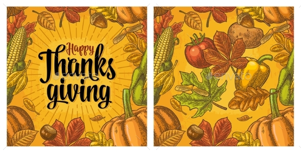 Seamless Pattern for Thanksgiving Day - Miscellaneous Vectors