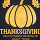 Gold Thanksgiving Flyer Template