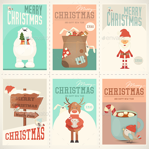 GraphicRiver Merry Christmas Posters Set 20821556