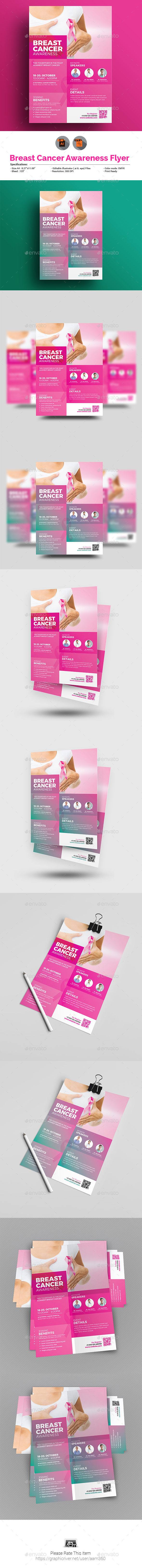 GraphicRiver Breast Cancer Awareness Month Flyer 20821572