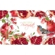 Pomegranate Branch Bird Banner