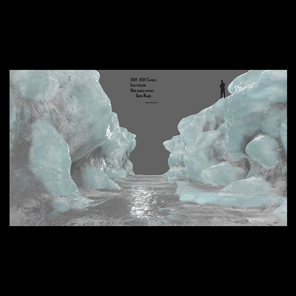 ice canyon - 3DOcean Item for Sale