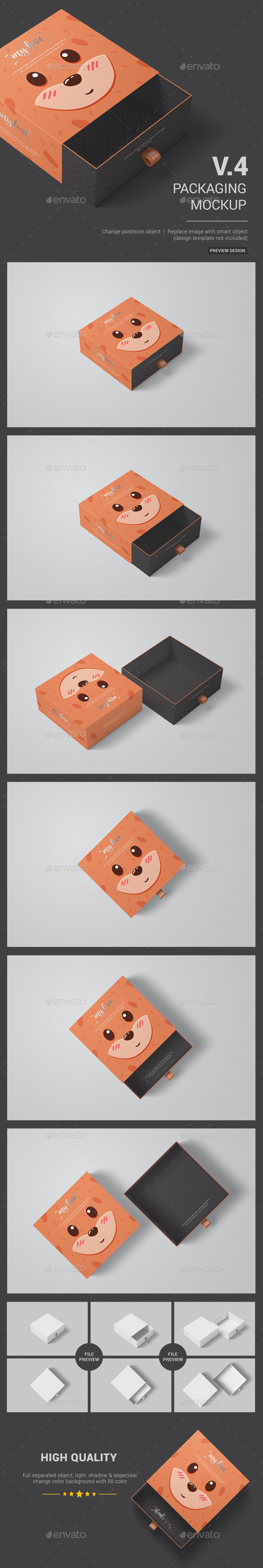 GraphicRiver Sliding Box Packaging Package Mockup 20821884