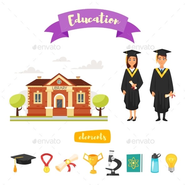 GraphicRiver Graduation Characters and Icons 20821905