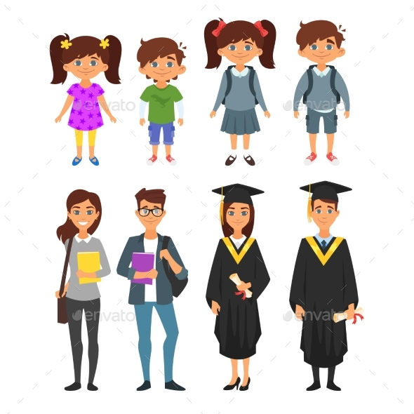 GraphicRiver Education Characters 20821906