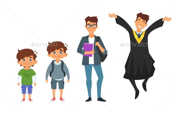 GraphicRiver Character From Kindergarten to Graduate 20821917