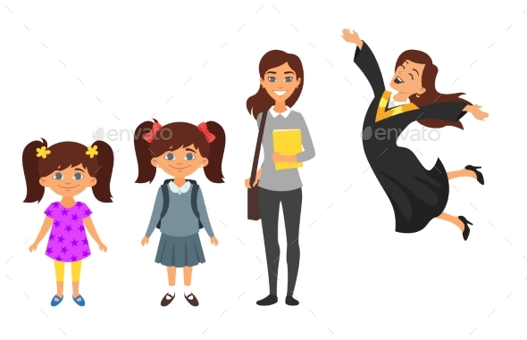 GraphicRiver Character From Kindergarten to Graduate 20821919