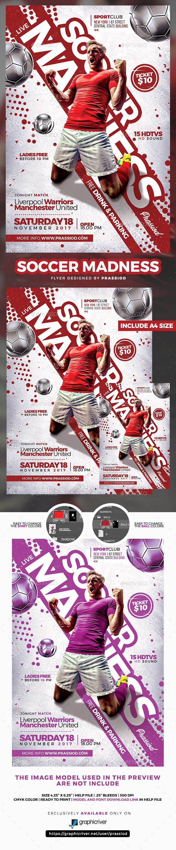 GraphicRiver Soccer Madness Flyer Template 20821962