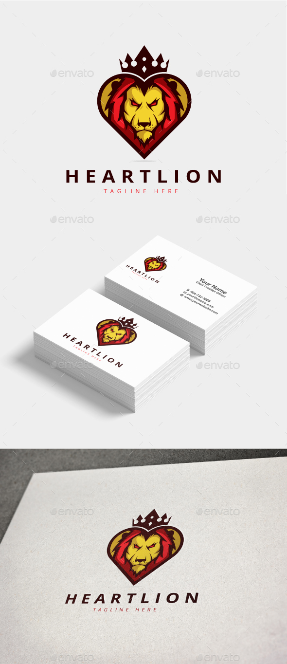 GraphicRiver Heart Lion Logo 20822080
