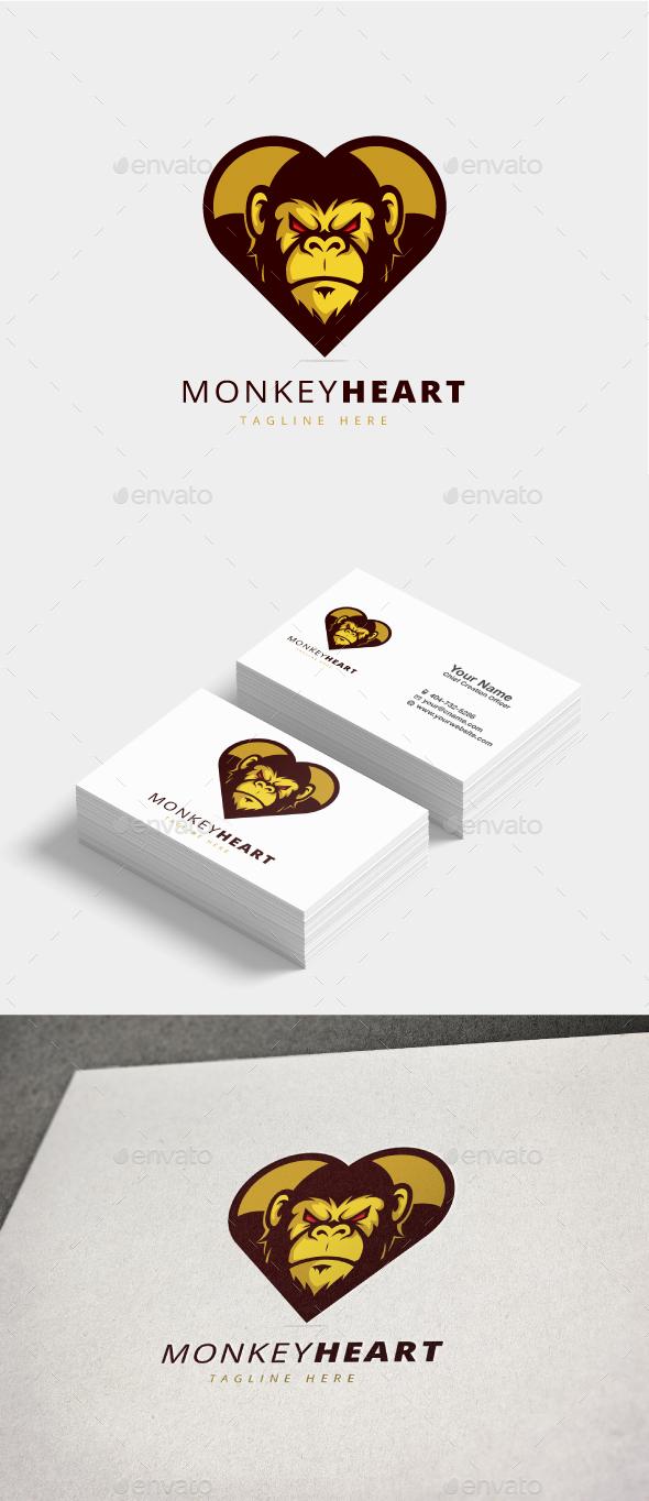 GraphicRiver Monkey Heart Logo 20822137