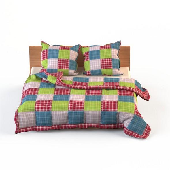 3DOcean Double Bed Bed Linen 20822169