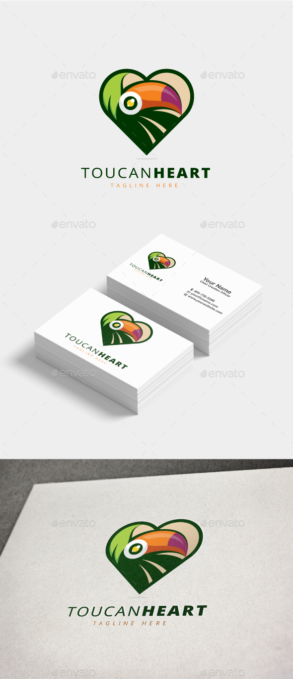 GraphicRiver Toucan Heart Logo 20822171
