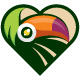 Toucan Heart Logo - GraphicRiver Item for Sale