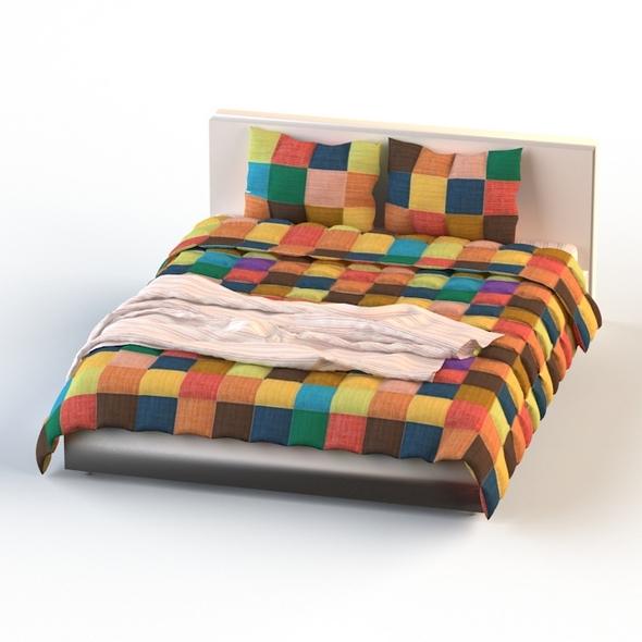 3DOcean Double Bed Bed Linen 20822294