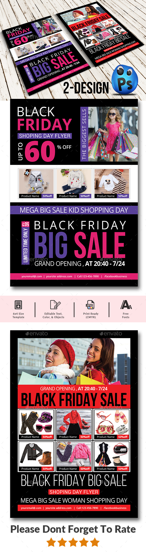 GraphicRiver Black Friday Flyer Templates 20822395