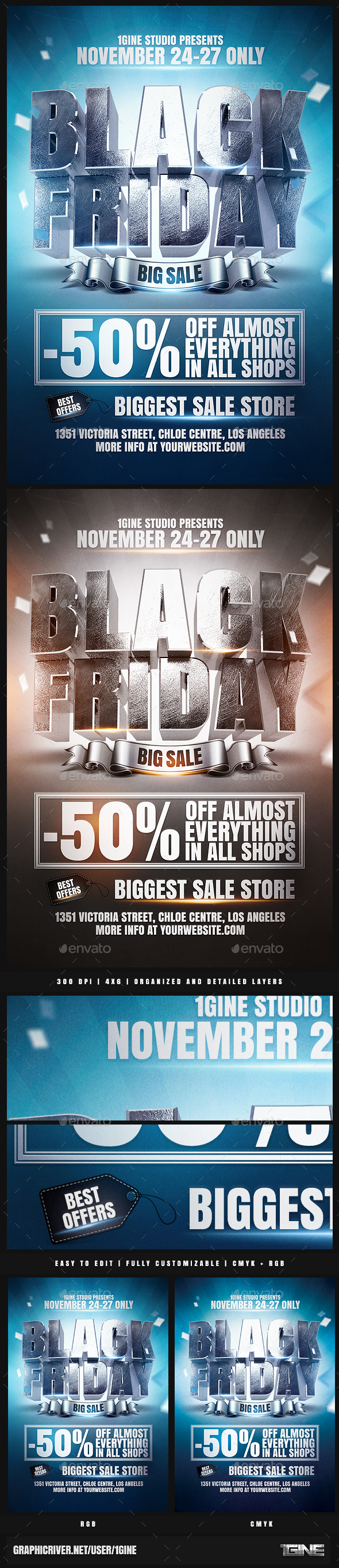 Black Friday Sale Flyer Template - Events Flyers